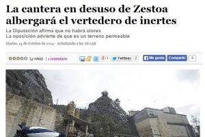 PREGUNTAMOS EN BRUSELAS POR EL VERTEDERO DE ZESTOA