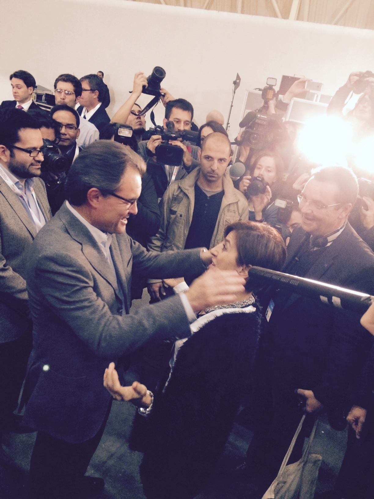 Con el Presidente Mas tras el 9-N