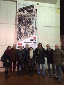 En la víspera con algunos de los ponentes del lunes ante el Museo Artium