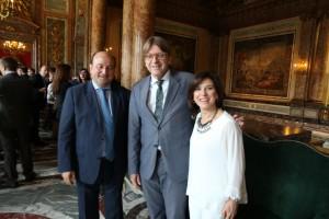 Con Andoni Ortuzar y Guy Verhofstadt en la sede del encuentro annual de lideres de ALDE