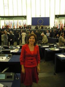 En la toma de posesión en la sede del Parlamento Europeo en Estrasburgo