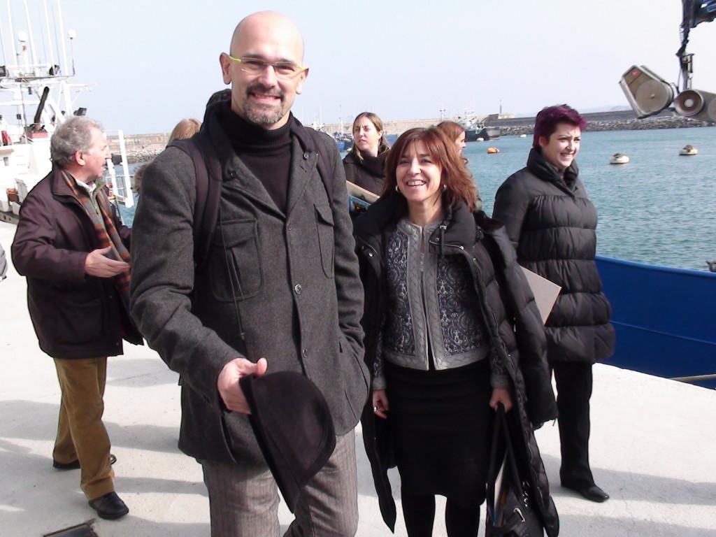 La comisión de pesca del Parlamento europeo durante la visita que les organizamos a euskadi Euskadi en Febrero de 2010