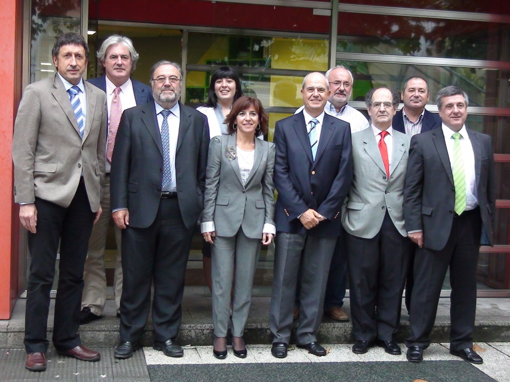 Nuestros anfitriones en la confederación e cooperativas de Euskadi