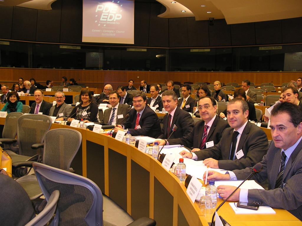 La delegacion de EAJ-PNV en el congreso del partido demócrata Europeo