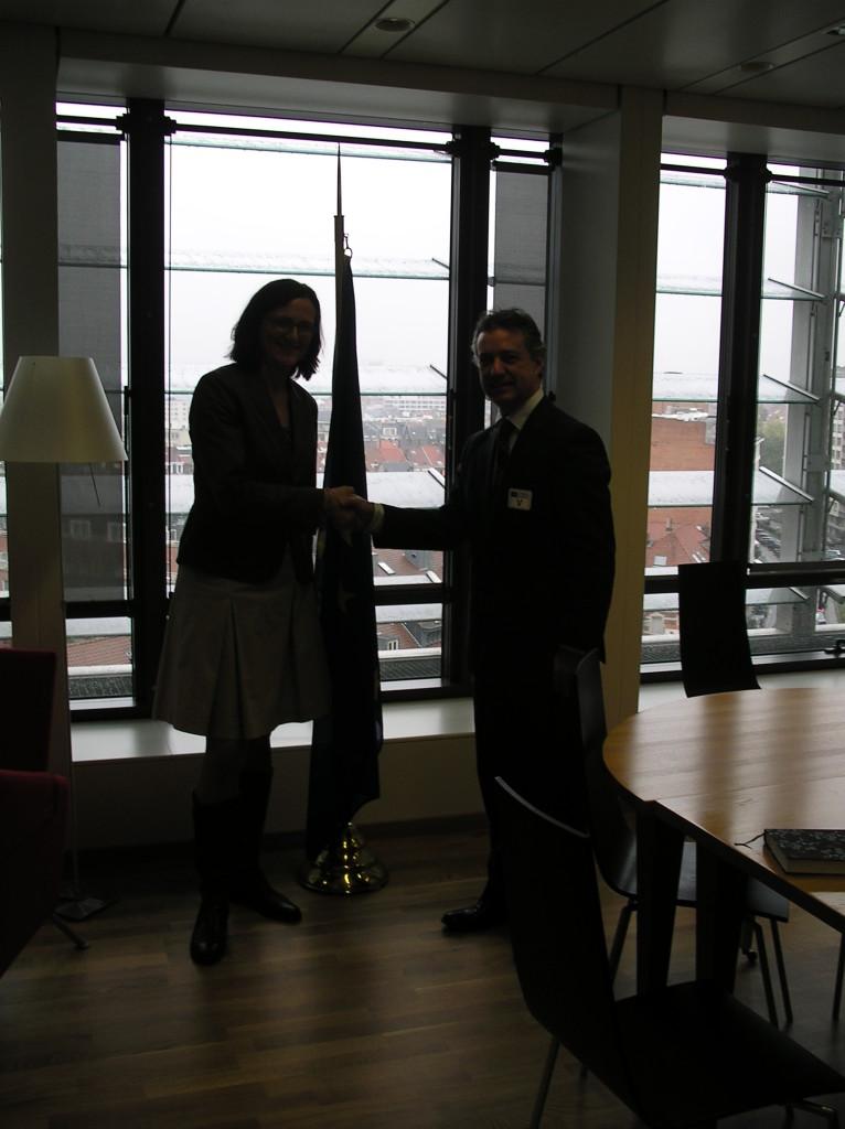 I igo Urkullu y la comisaria de interior Cecilia Malmstrom