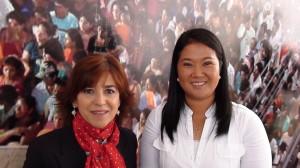 Con Keiko Fujimori