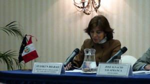 Durante la rueda de prensa de presentación del informe preliminar