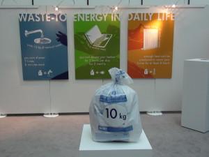 Una exposicion en el Parlamento Europeo mostraba ayer los resultados de la valoración energética de la basura no reciclable.
