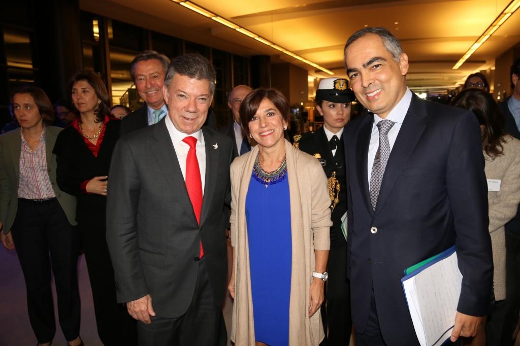 Con el presidente Santos en la sede del Parlamento Europeo en Bruselas.
