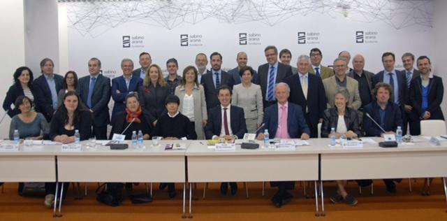 Los participantes en el seminario de la Fundación Sabino Arana sobre el despertar de las naciones, Europa como solución