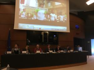 Un momento de la presentación en Estrasburgo