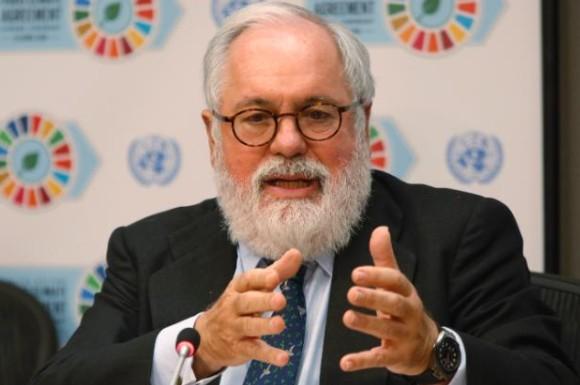 El Comisario para la Acción por el Clima y la Energía Miguel Arias Cañete