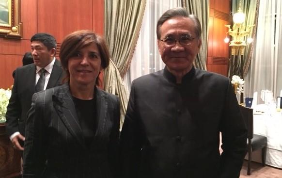 Con el ministro de Asuntos exteriores