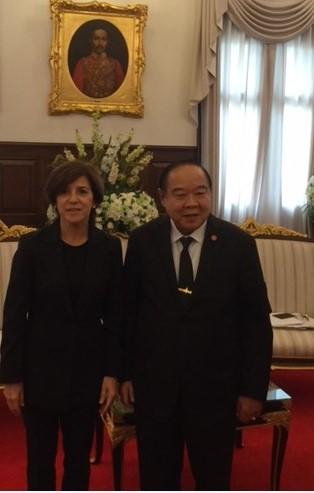Tras la reunión con el ministro de defensa