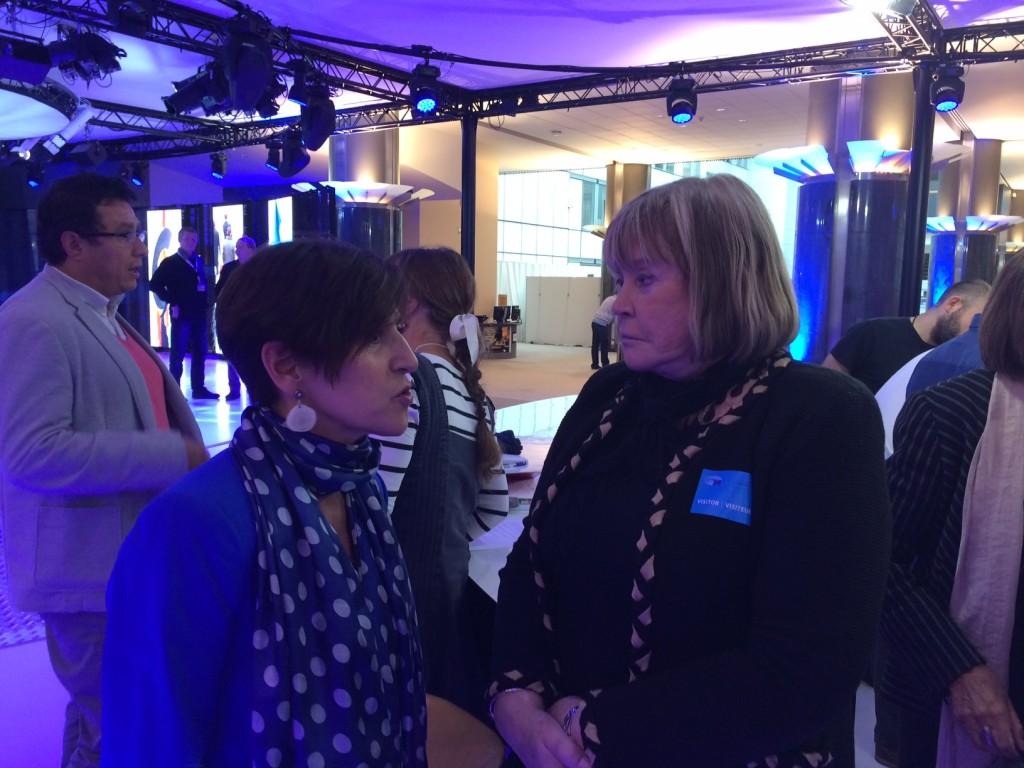 Con la jueza argentina María Servini durante su estancia en el Parlamento Europeo