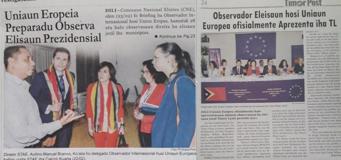 La prensa local sigue los trabajos de la misión de observación electoral.