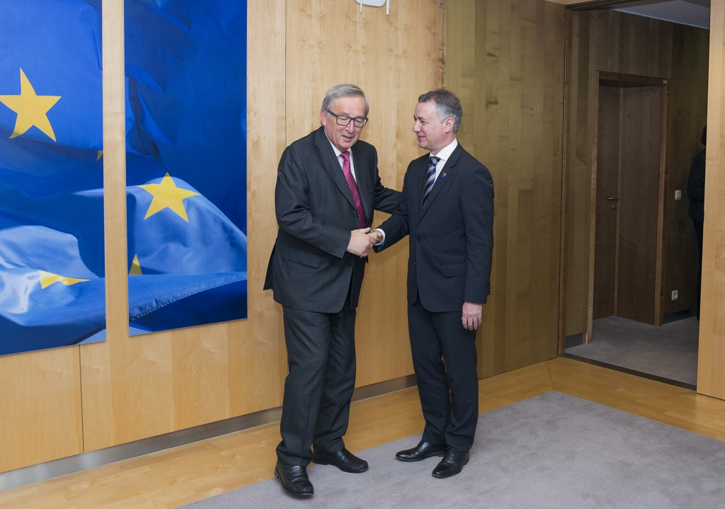 El lehendakari Urkullu con el president Juncker