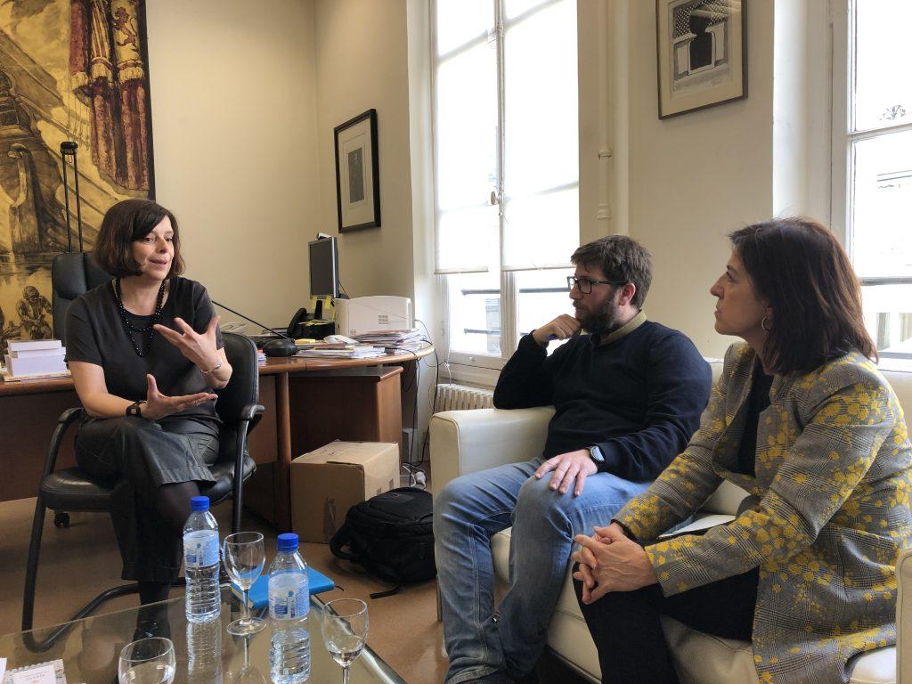 En el instituto Cervantes con Soledad García