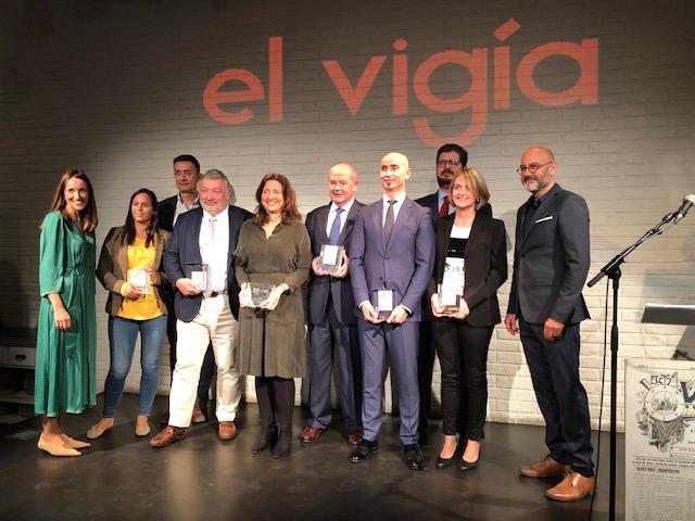 Los prem,iados en la XXI edición de los premios El Vigía.